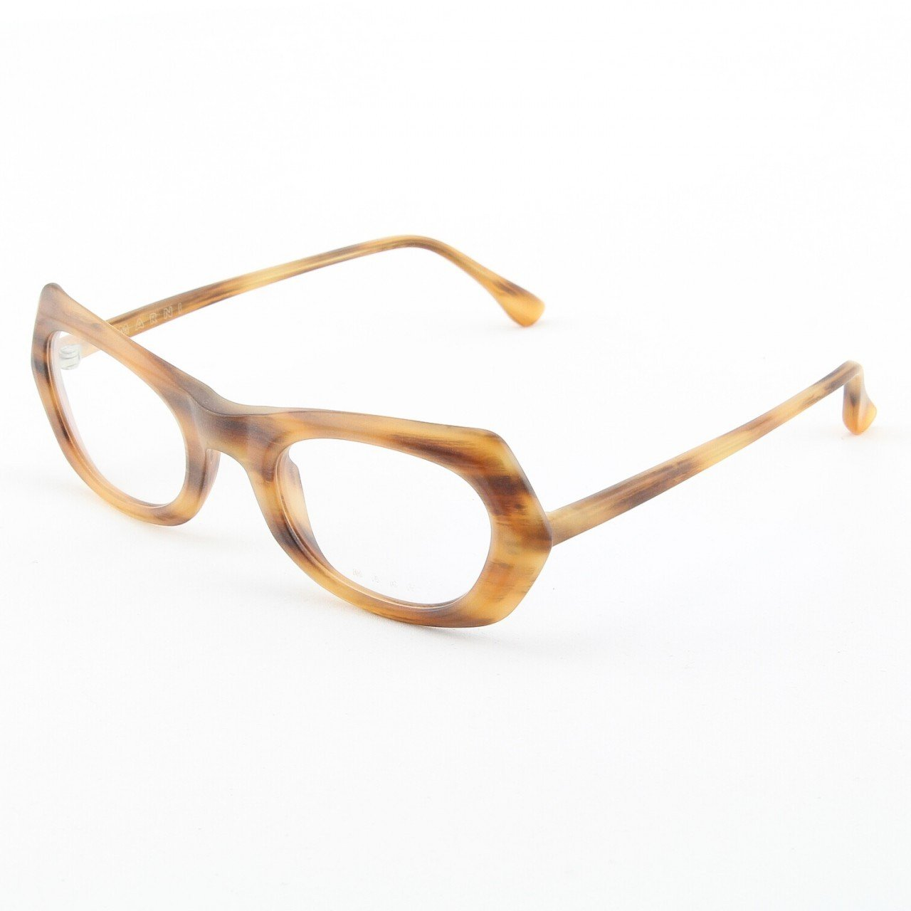Marni MA680S Eyeglasses Col. 01 Frosted Tortoise Frame with Clear Lenses
