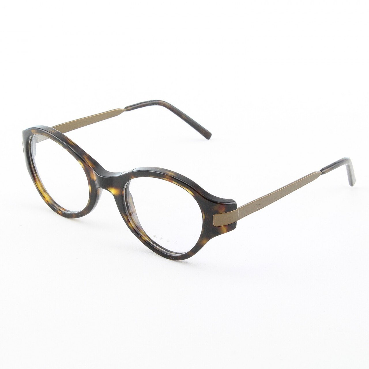 Marni MA679S Eyeglasses Col. 08 Dark Tortoise Frame with Antique Gold Accents and Clear Lenses