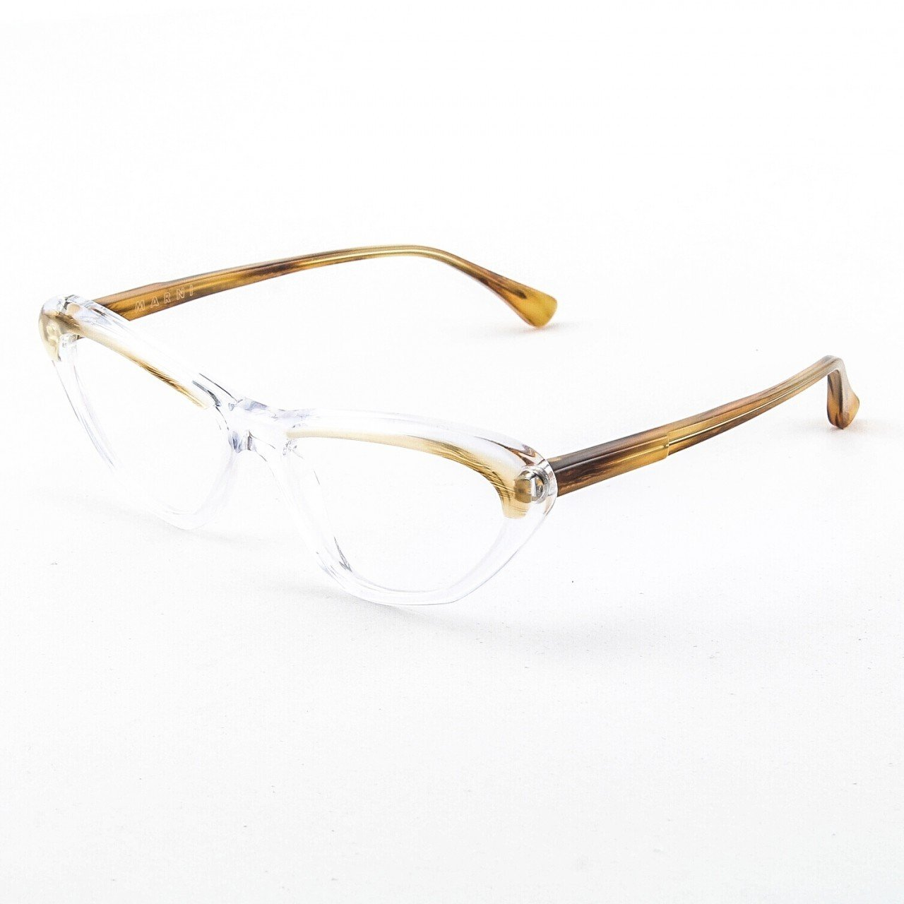 Marni MA675S Eyeglasses Col. 09 Crystal Clear and Tortoise Frame with Clear Lenses