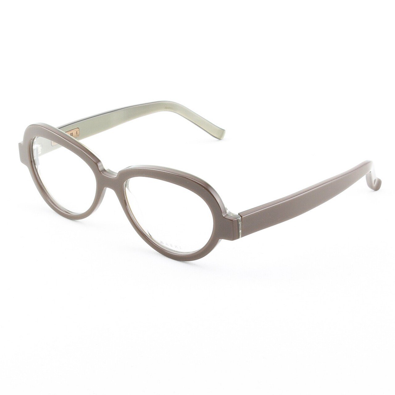 Marni MA645S Eyeglasses Col. 20 Mocha High Gloss Frame with Clear Lenses