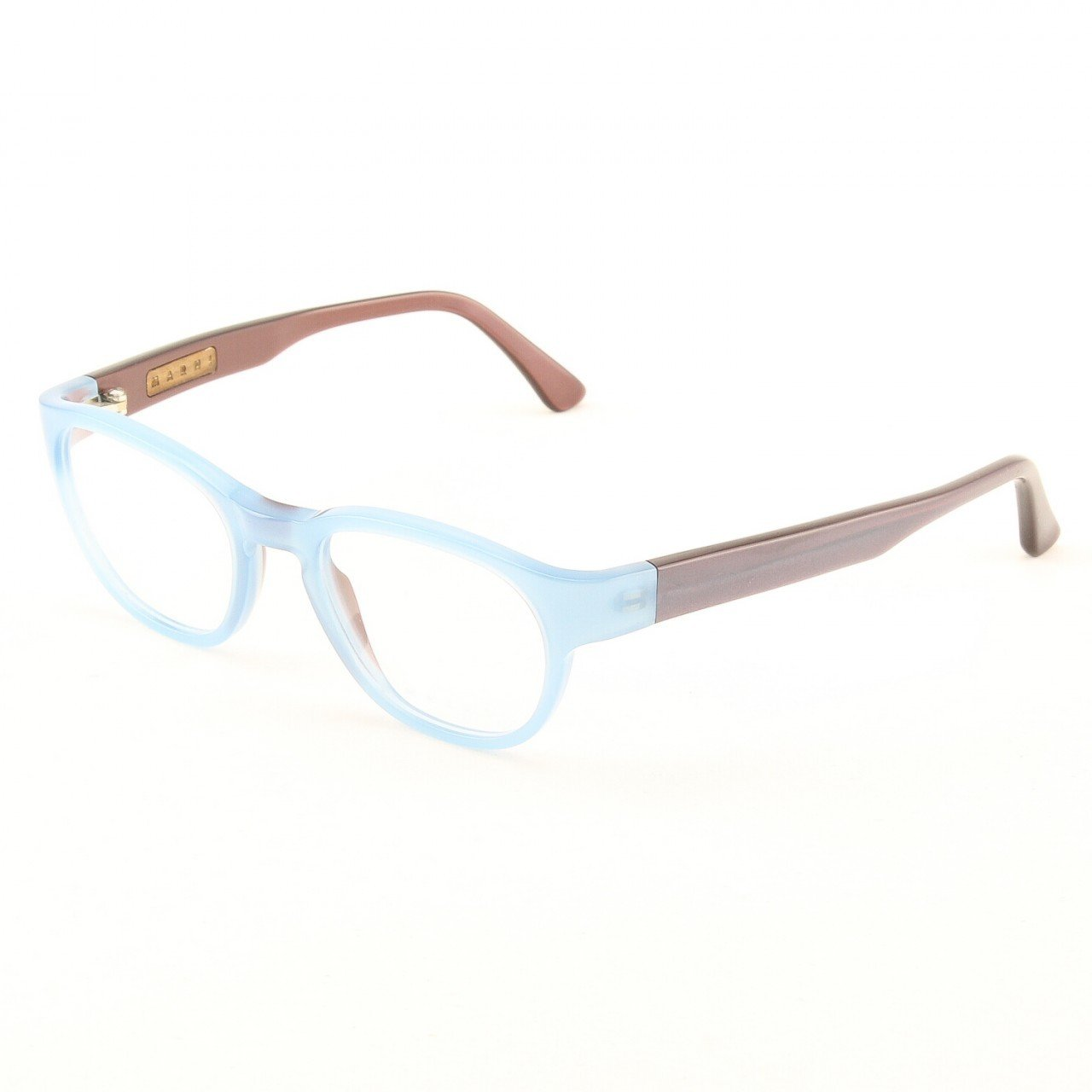 Marni MA630S Eyeglasses Col. 48 Crystal Light Blue Frame with Clear Lenses