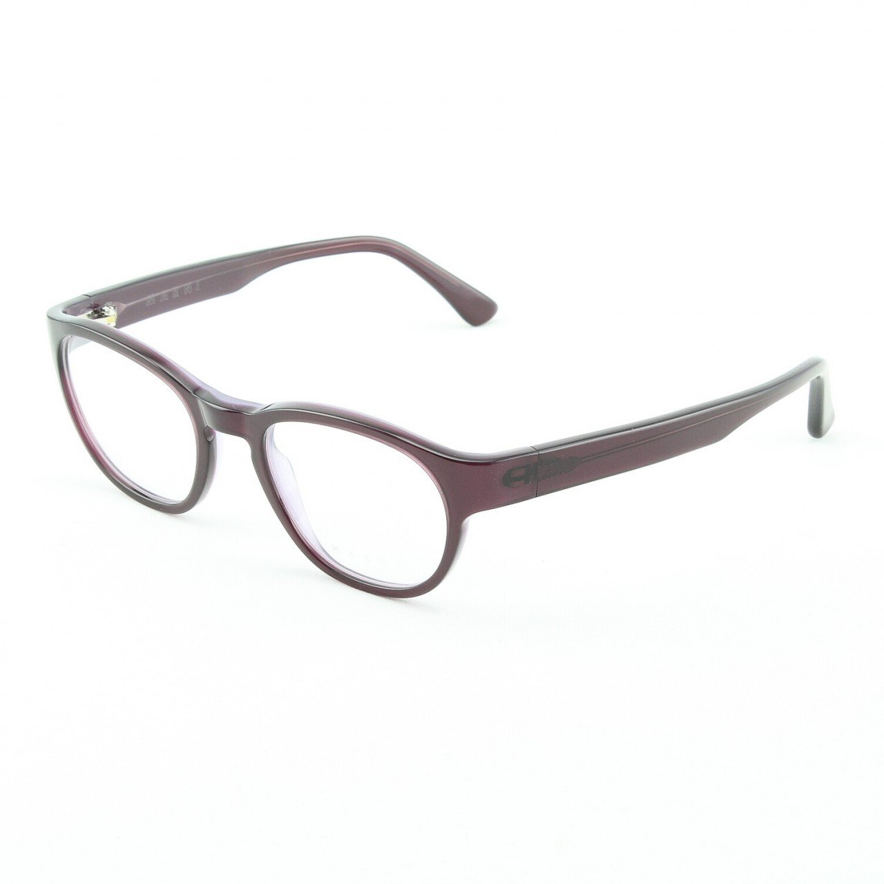 Marni MA630S Eyeglasses Col. 46 Deep Plum Translucent Frame with Clear Lenses