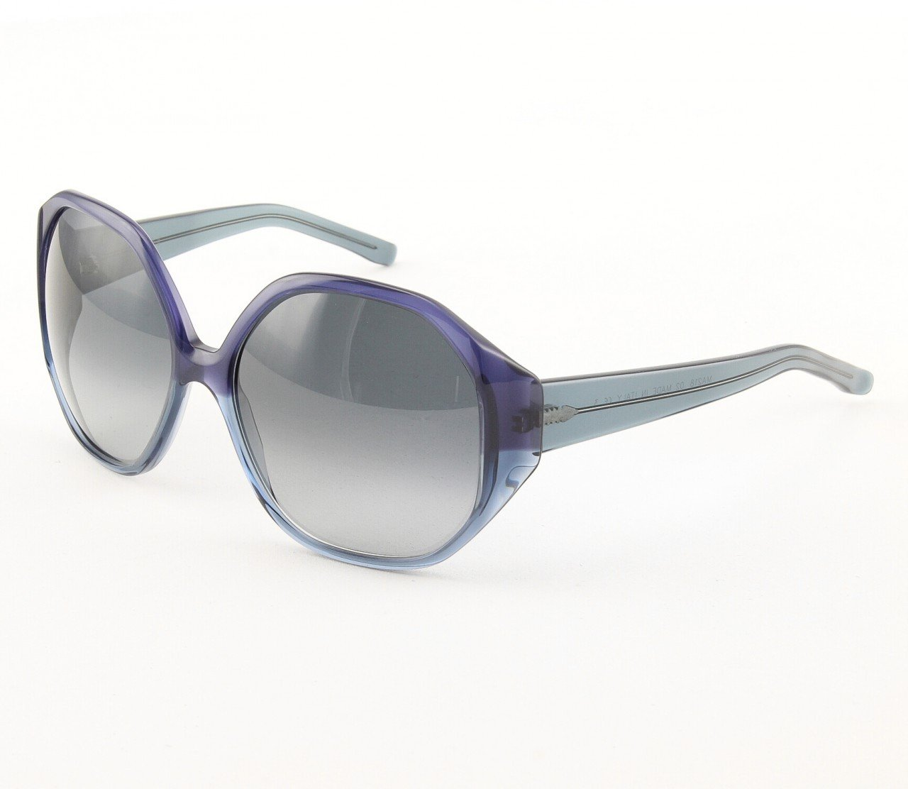 Marni MA218 Sunglasses Col. 02 Navy Blue Opaque and Crystal Frame with Gray Gradient Lenses