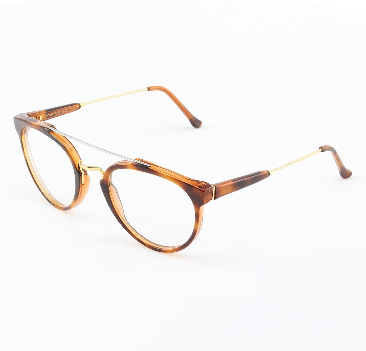 Super Giaguaro 638/0A Eyeglasses Classic Havana with Clear Zeiss Lenses by RETROSUPERFUTURE