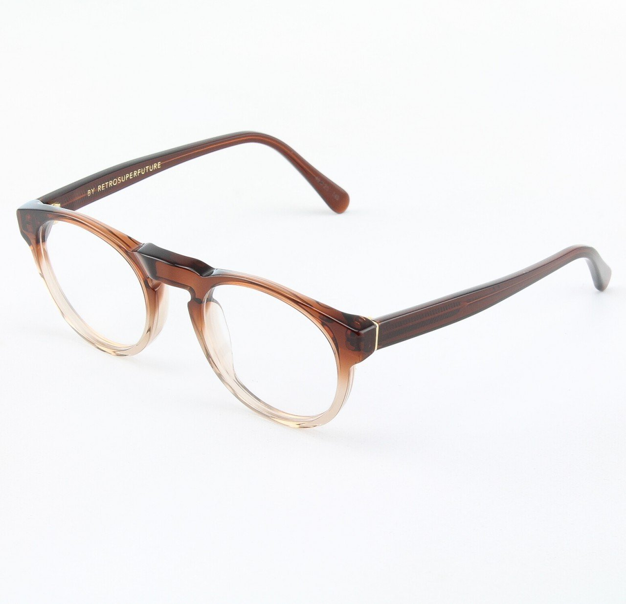 Super Paloma 820/0T Eyeglasses Brown Crystal with Clear Zeiss Lenses by RETROSUPERFUTURE