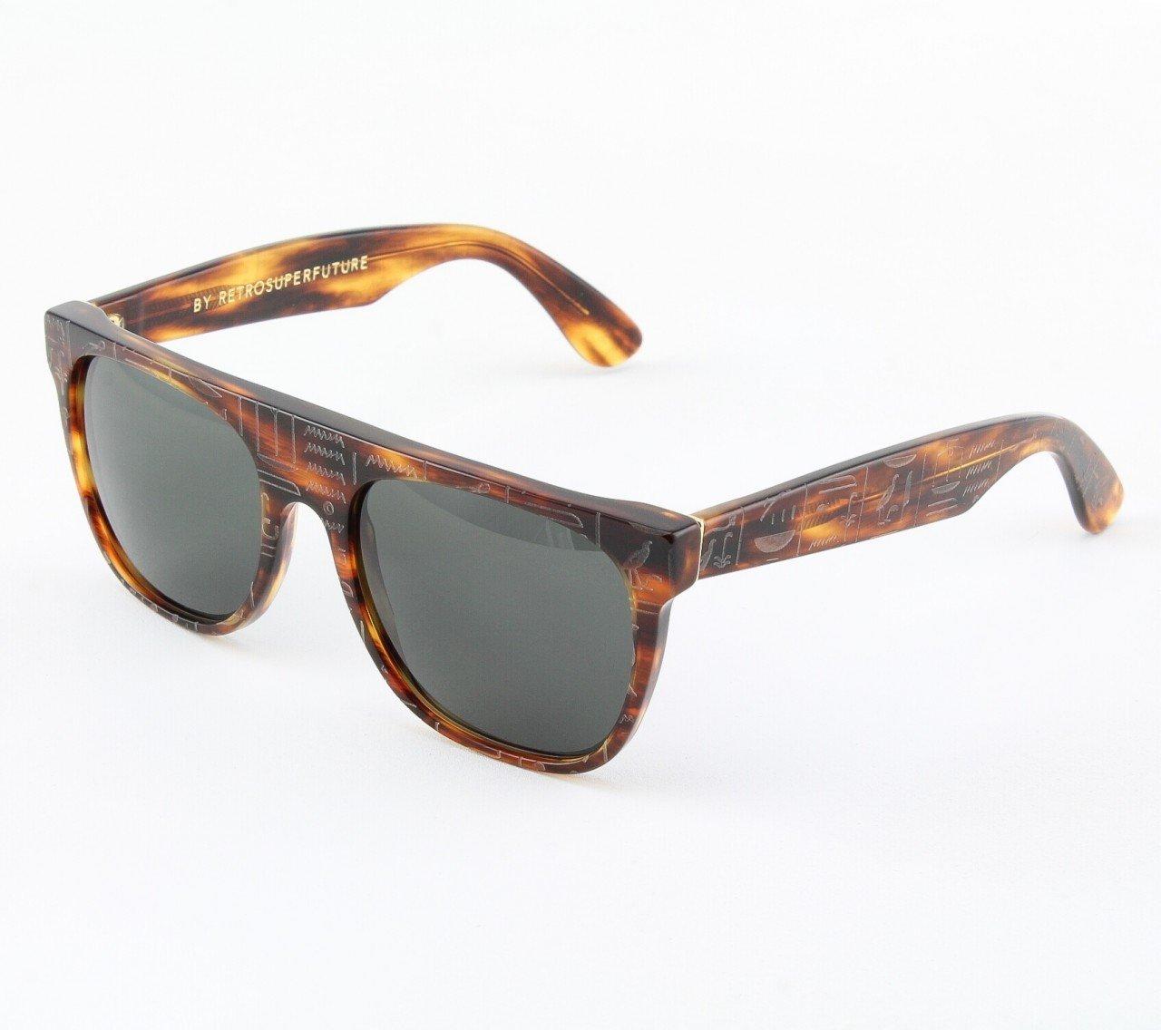Super Flat Top 860/3T Sunglasses Havana with Black Zeiss Lenses by RETROSUPERFUTURE