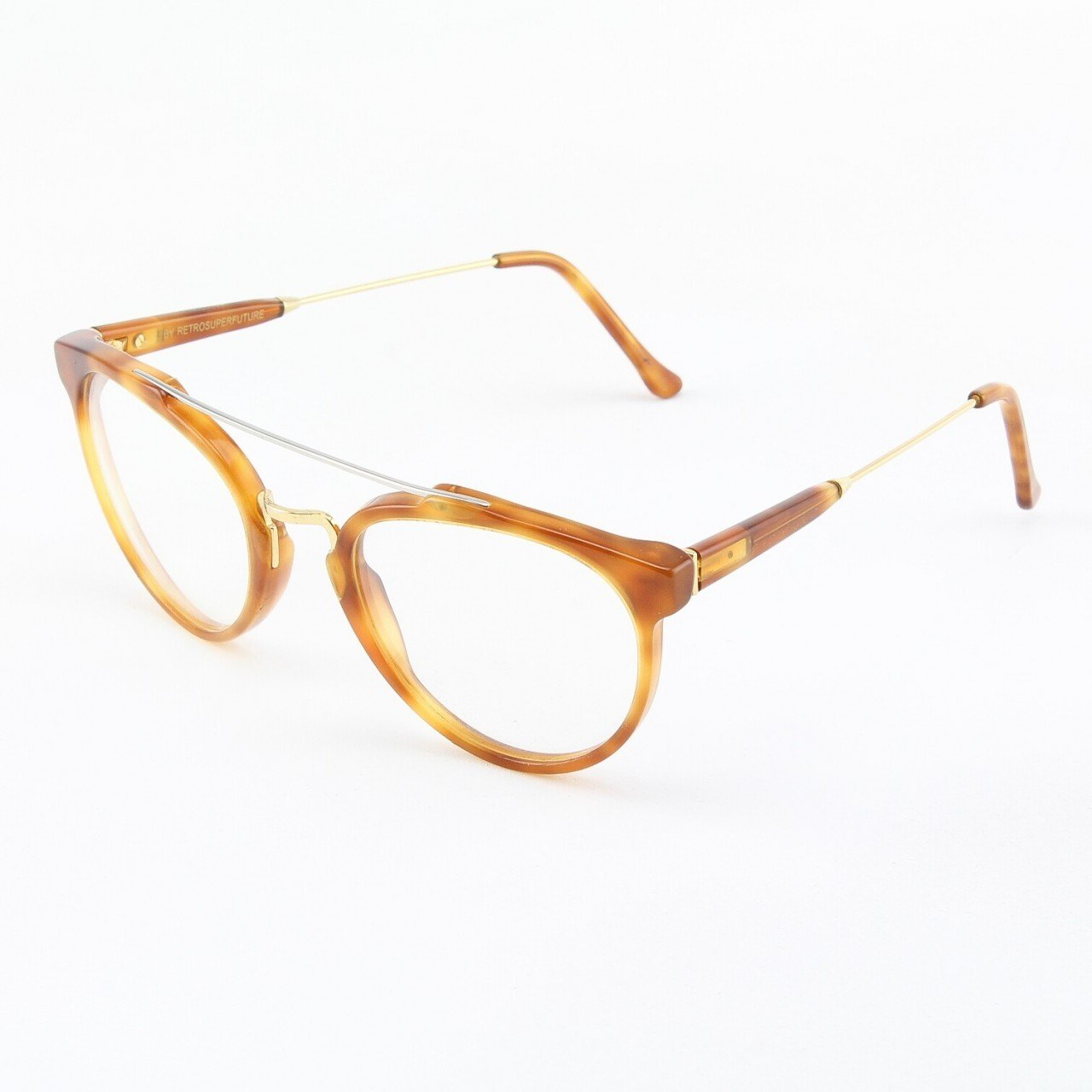Super Giaguaro 628/0A Eyeglasses Havana with Clear Zeiss Lenses by RETROSUPERFUTURE