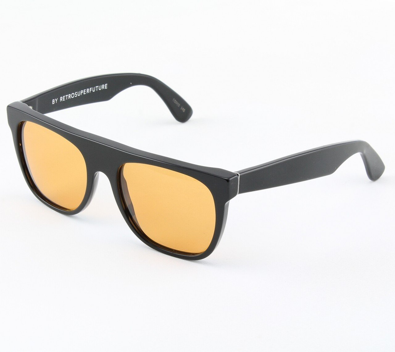 Super Flat Top 581/2T Sunglasses Black with Yellow Zeiss Lenses by RETROSUPERFUTURE