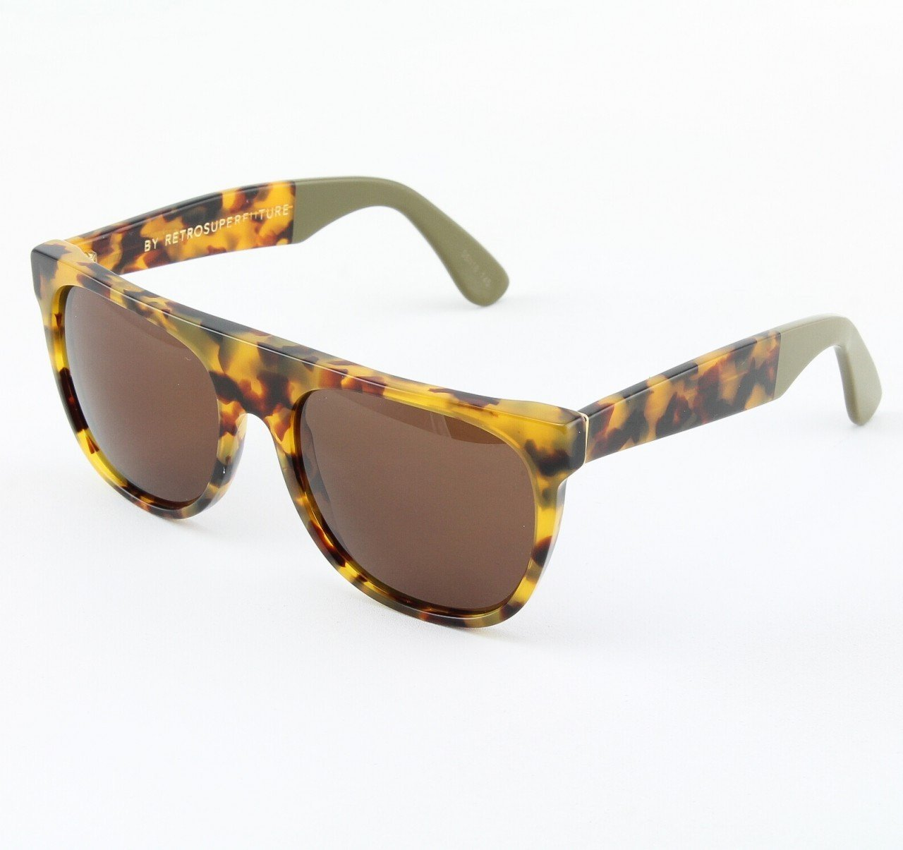 Super Flat Top 535/3T Sunglasses Spot Brown with Brown Zeiss Lenses by RETROSUPERFUTURE