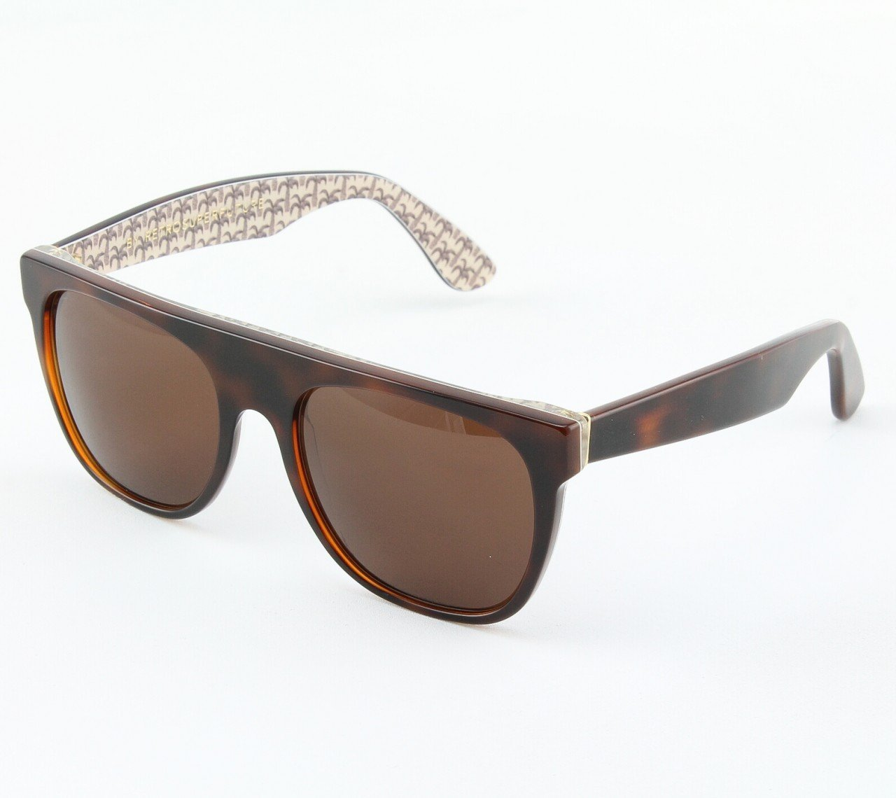 Super Flat Top 509/3T Sunglasses Brown with Brown Zeiss Lenses by RETROSUPERFUTURE