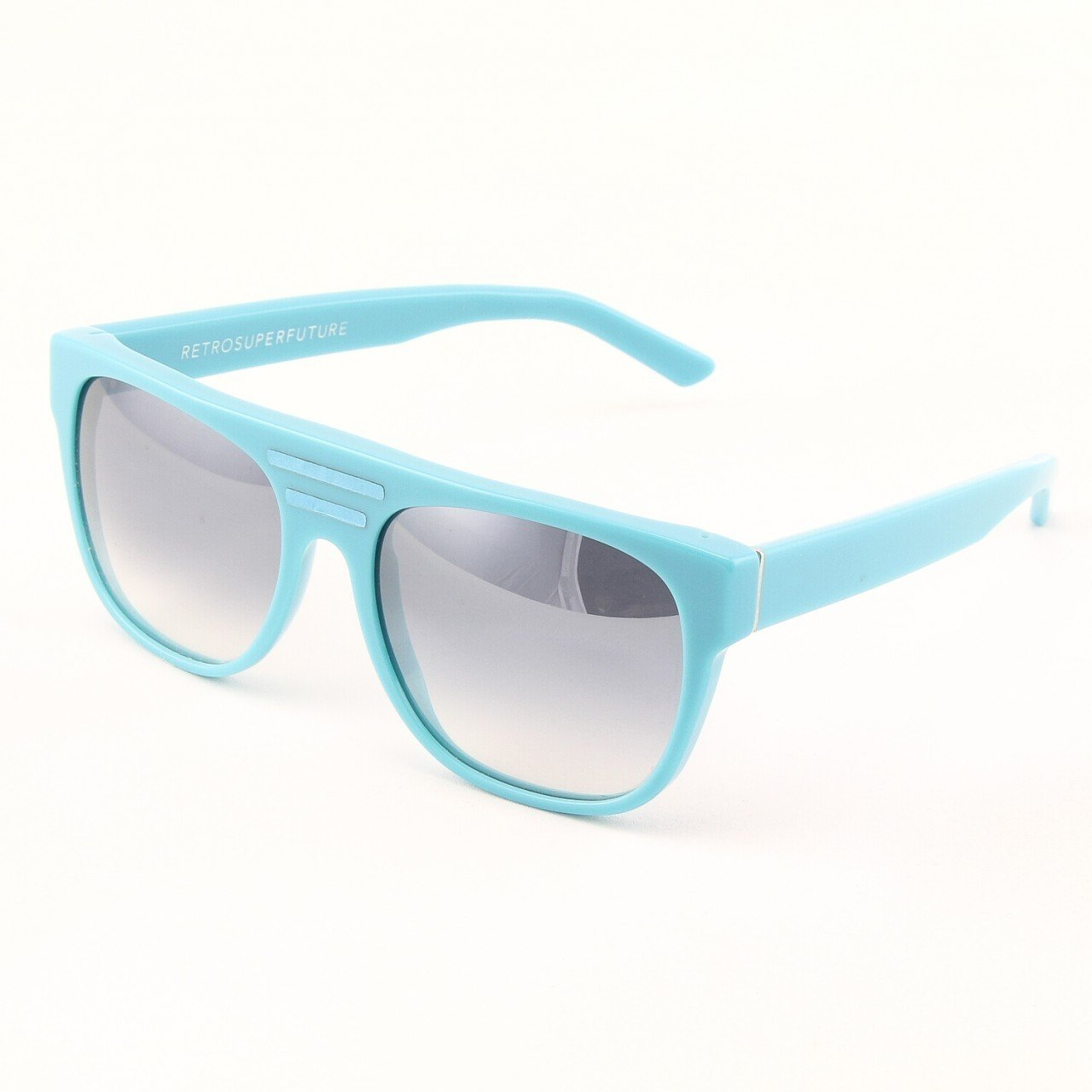 Super Flat Top 229/2 Sunglasses Sky Blue with Blue Gradient Lenses by RETROSUPERFUTURE