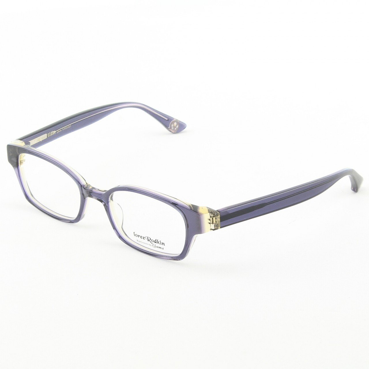 Loree Rodkin Evan Eyeglasses by Sama Col. Purple and Gold with Clear Lenses