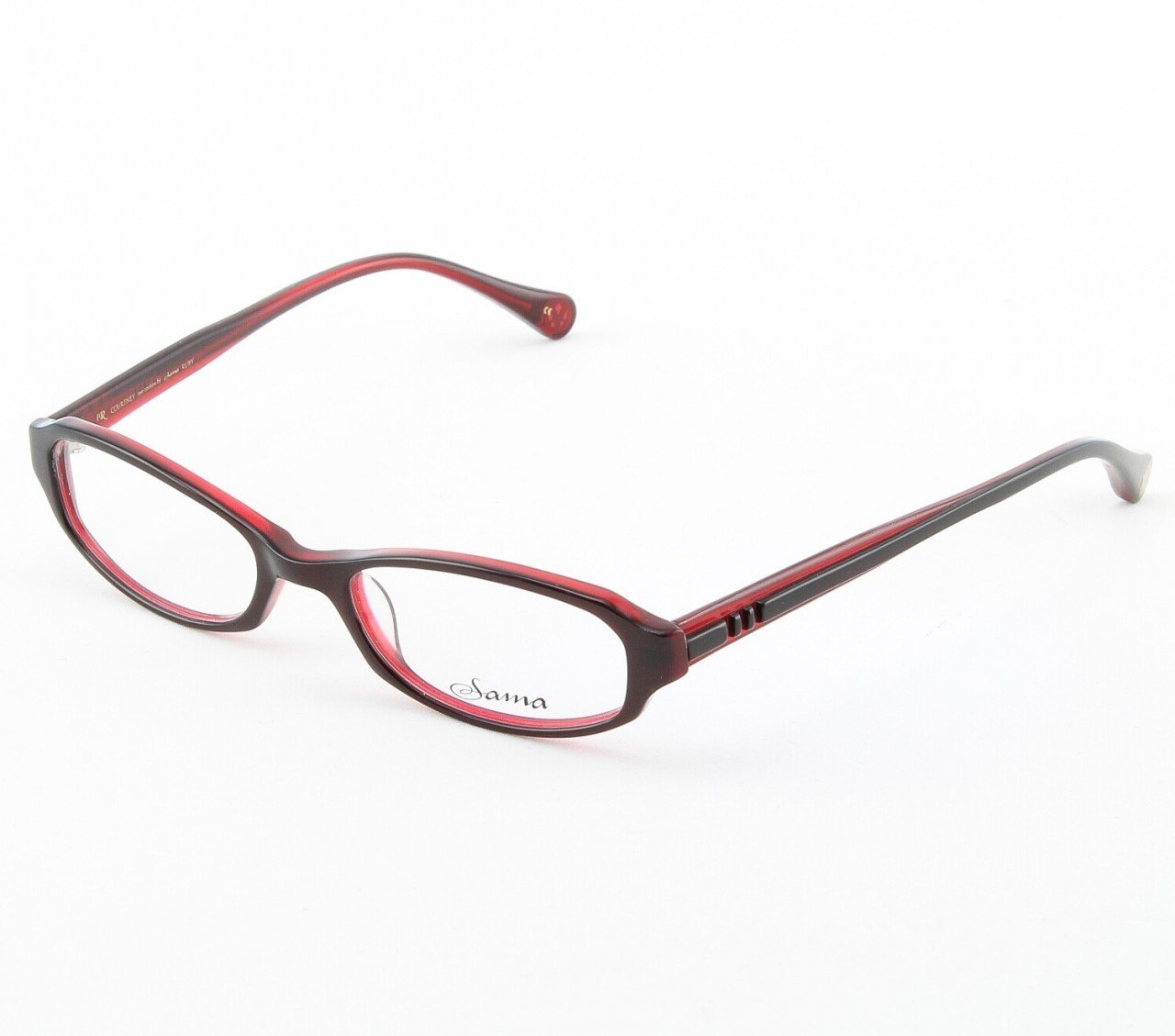 Loree Rodkin Courtney Eyeglasses by Sama Col. Ruby with Clear Lenses