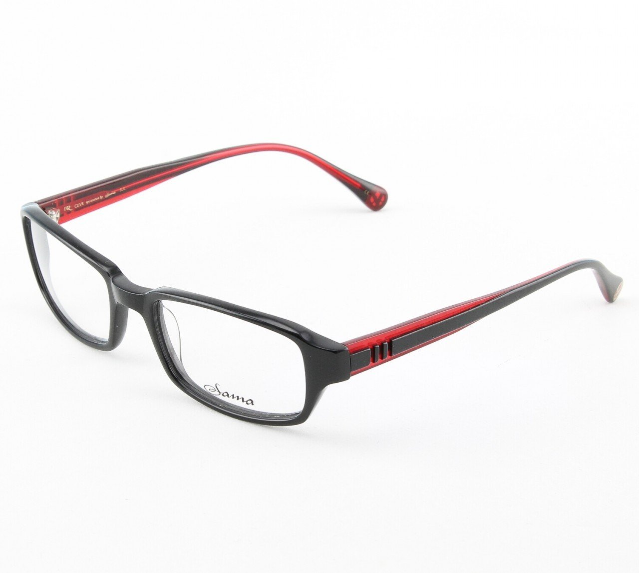 Loree Rodkin Clive Eyeglasses by Sama Col. Black with Clear Lenses