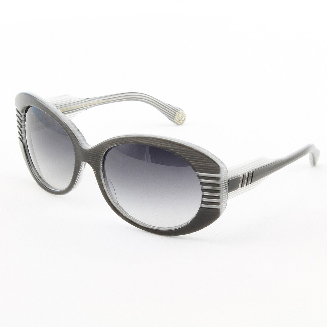 Loree Rodkin Lindsey Sunglasses by Sama Col. Slate with Gray Gradient Lenses