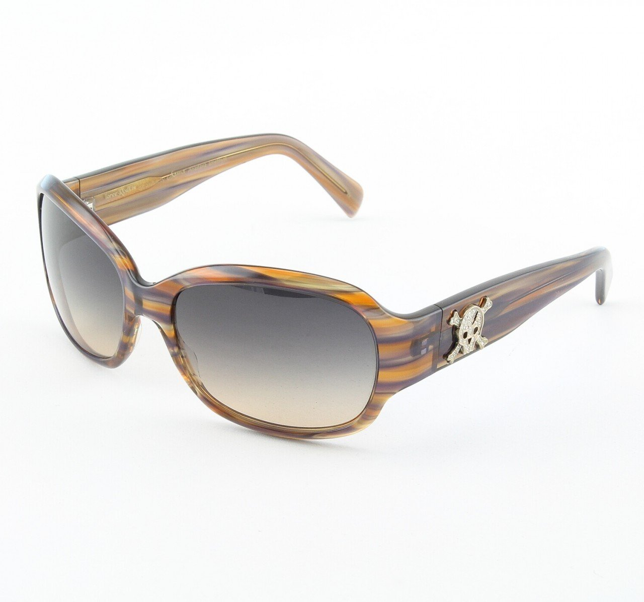 Loree Rodkin Anastasia Sunglasses by Sama Col. Amethyst and Tortoise with Brown Gradient Lenses