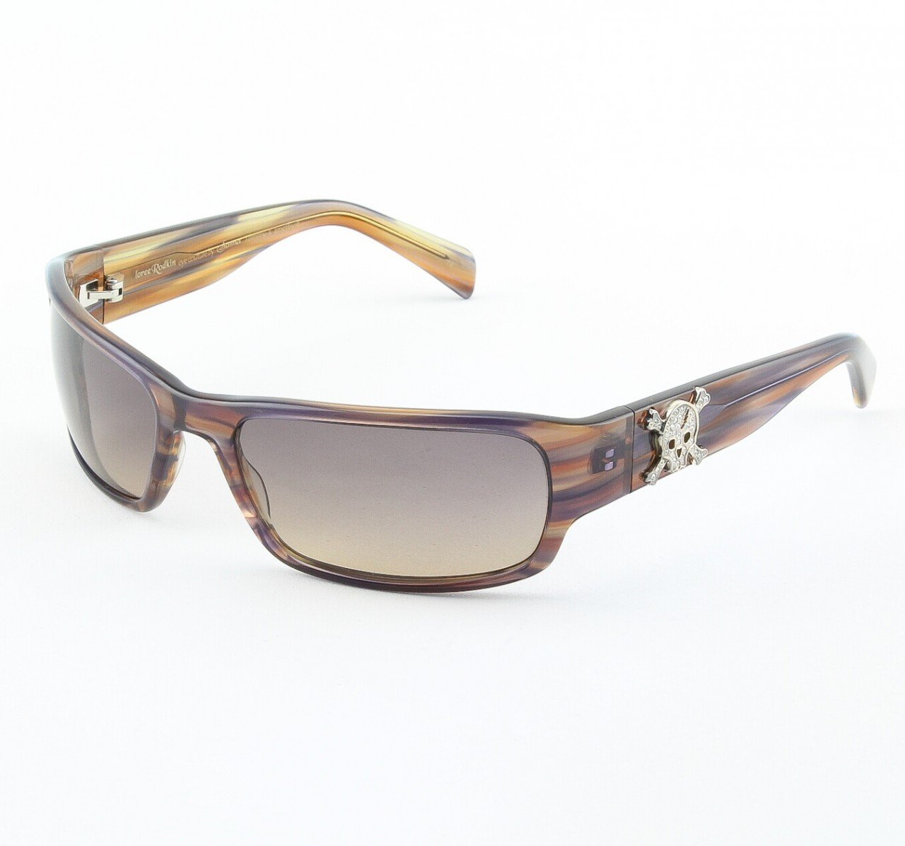 Loree Rodkin Tommy-MX2 Sunglasses by Sama Col. Amethyst with Gray Lenses and Sterling Silver