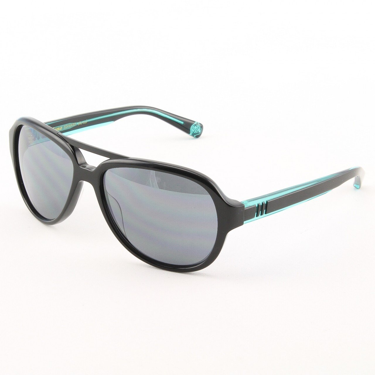 Loree Rodkin Edward Sunglasses by Sama Col. Black Teal with Gray Lenses