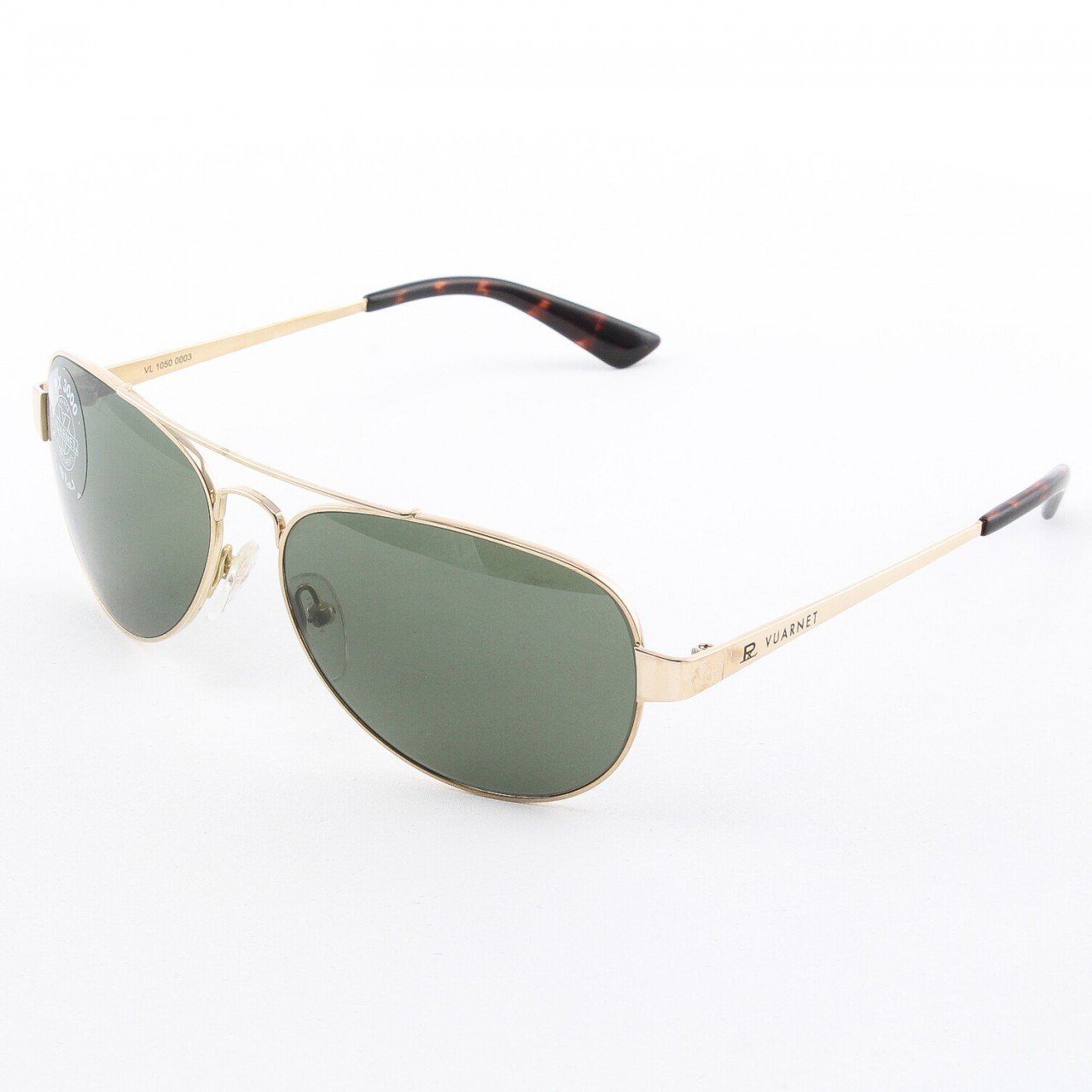 Vuarnet VL 1050 Aviator Sunglasses Col. Gold with Green PX3000 Lenses