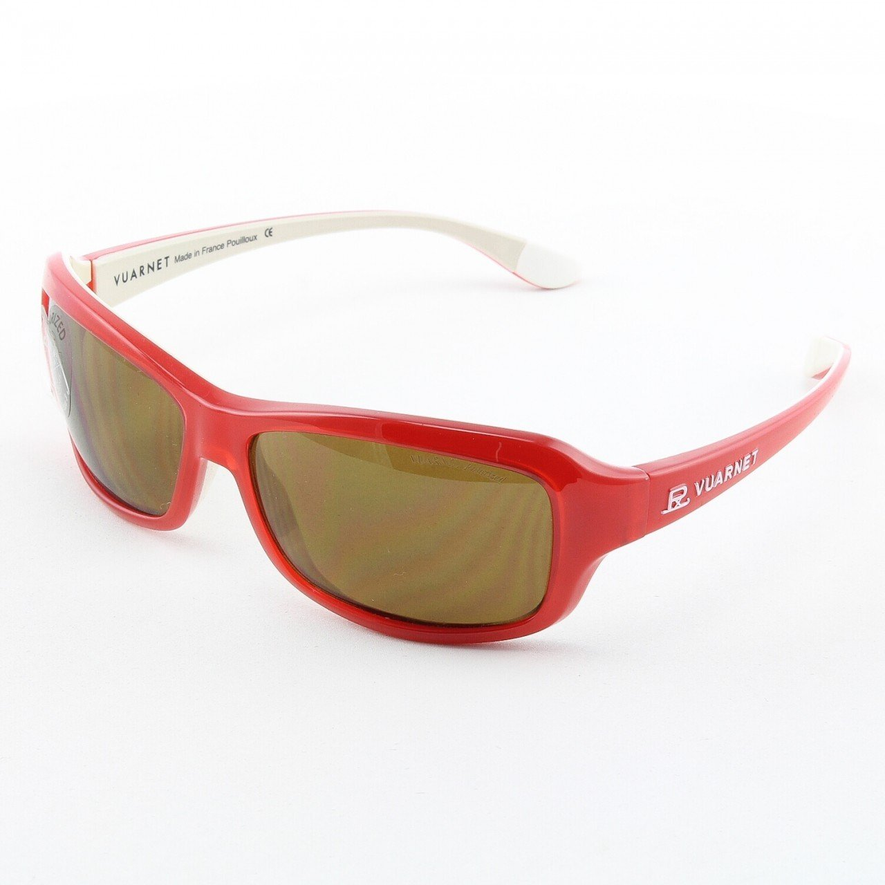Vuarnet VL 1032 Sunglasses Col. 0004 2721 Red and White with Brown Polarized PC2000 Lenses