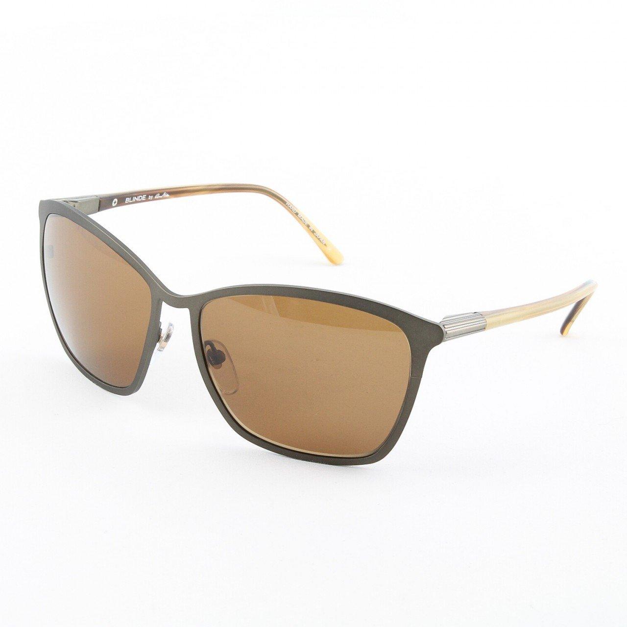 Blinde Ta Da Women's Cat Eye Sunglasses Col. Dark Brown with Brown Lenses