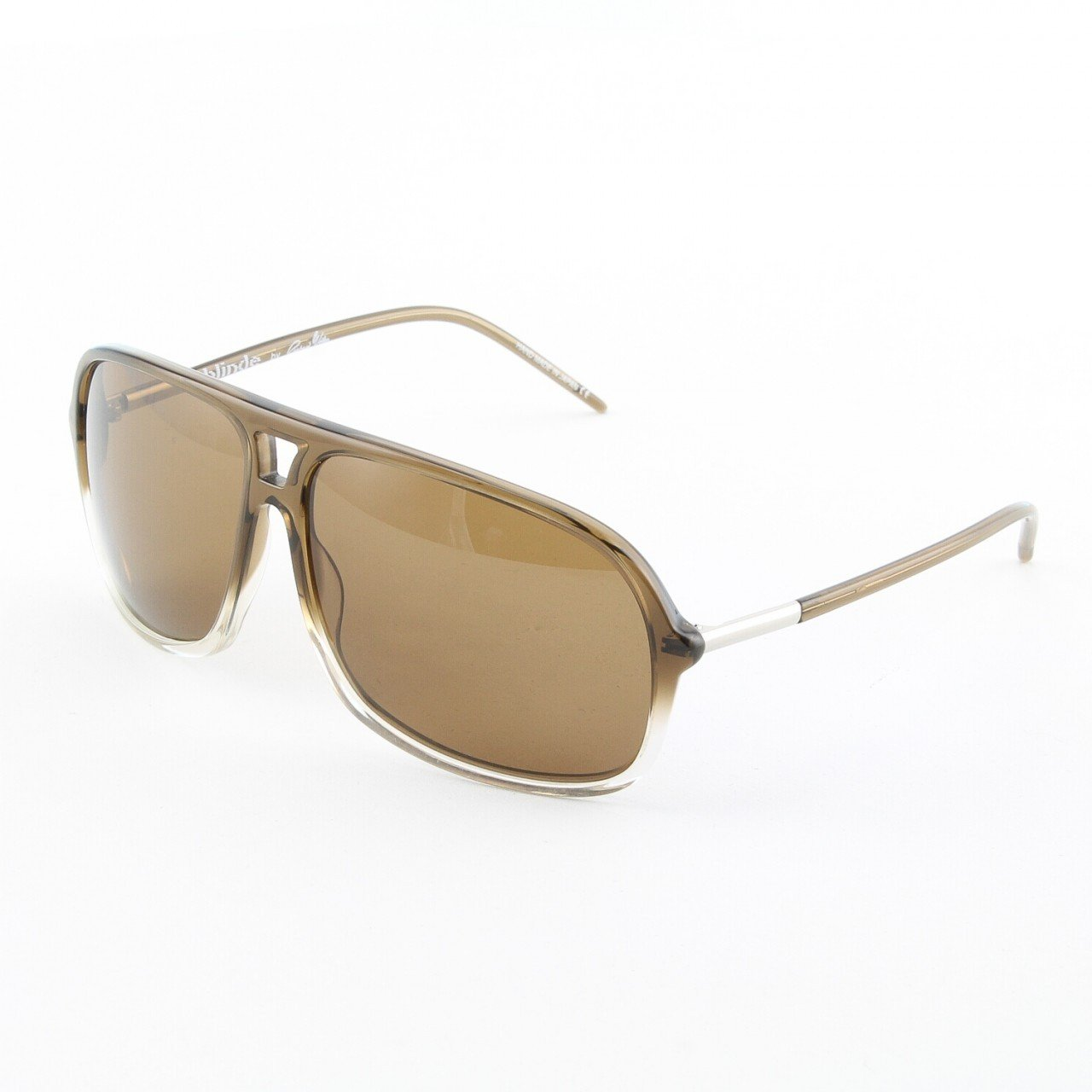 Blinde Lights Out Unisex Sunglasses Col. Brown Crystal with Brown Gradient Lenses