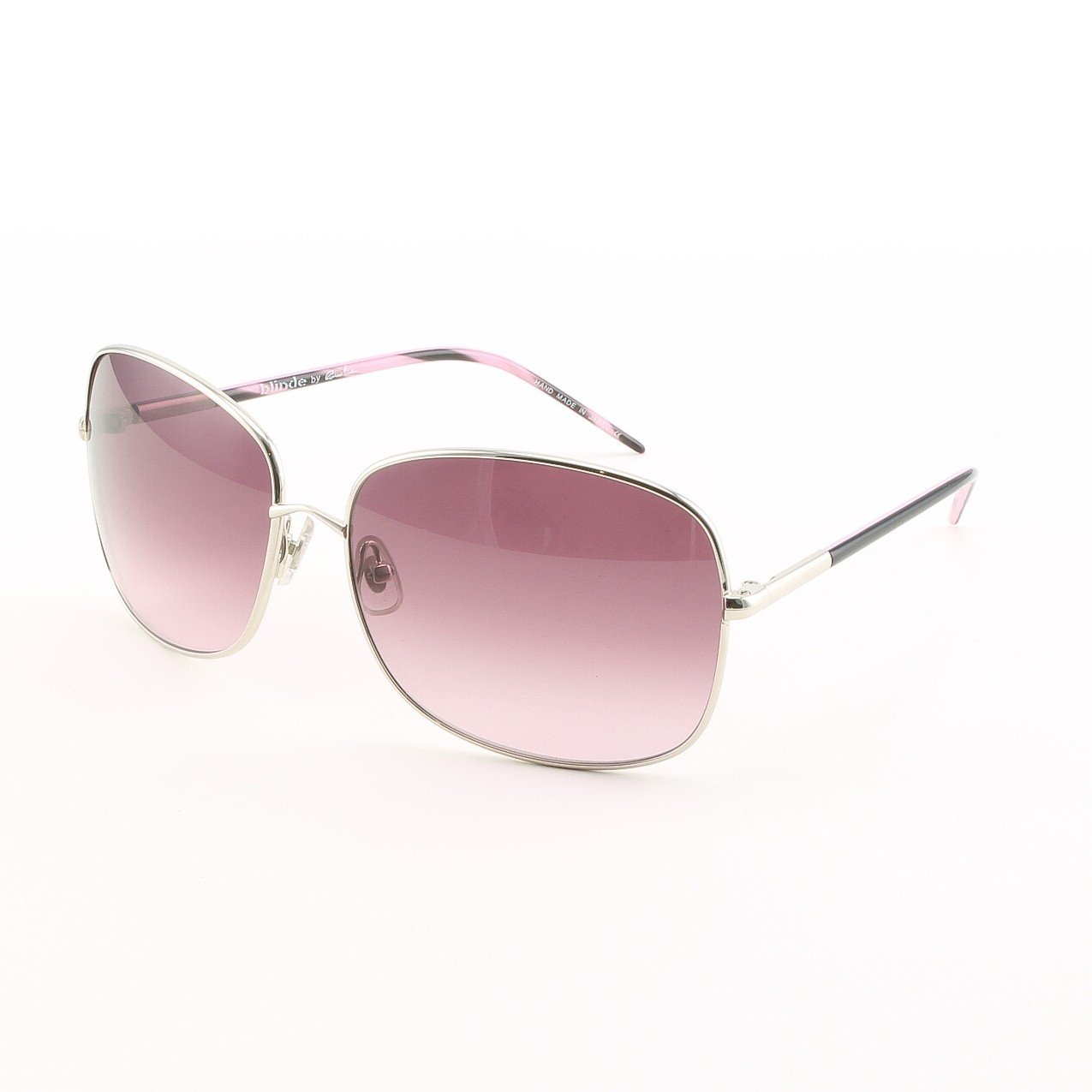 Blinde Whip It Women's Sunglasses Col. Silver with Pink Gradient Lenses
