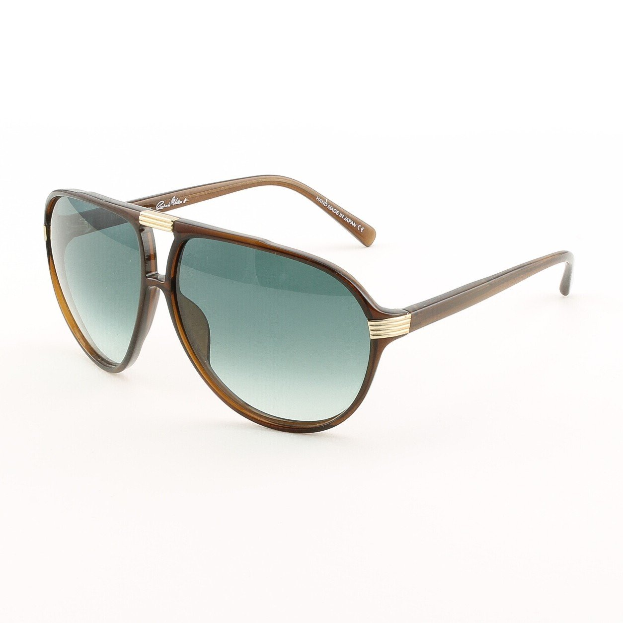 Blinde The Shakedown Unisex Aviator Sunglasses Col. Brown Crystal with Blue Gradient Lenses