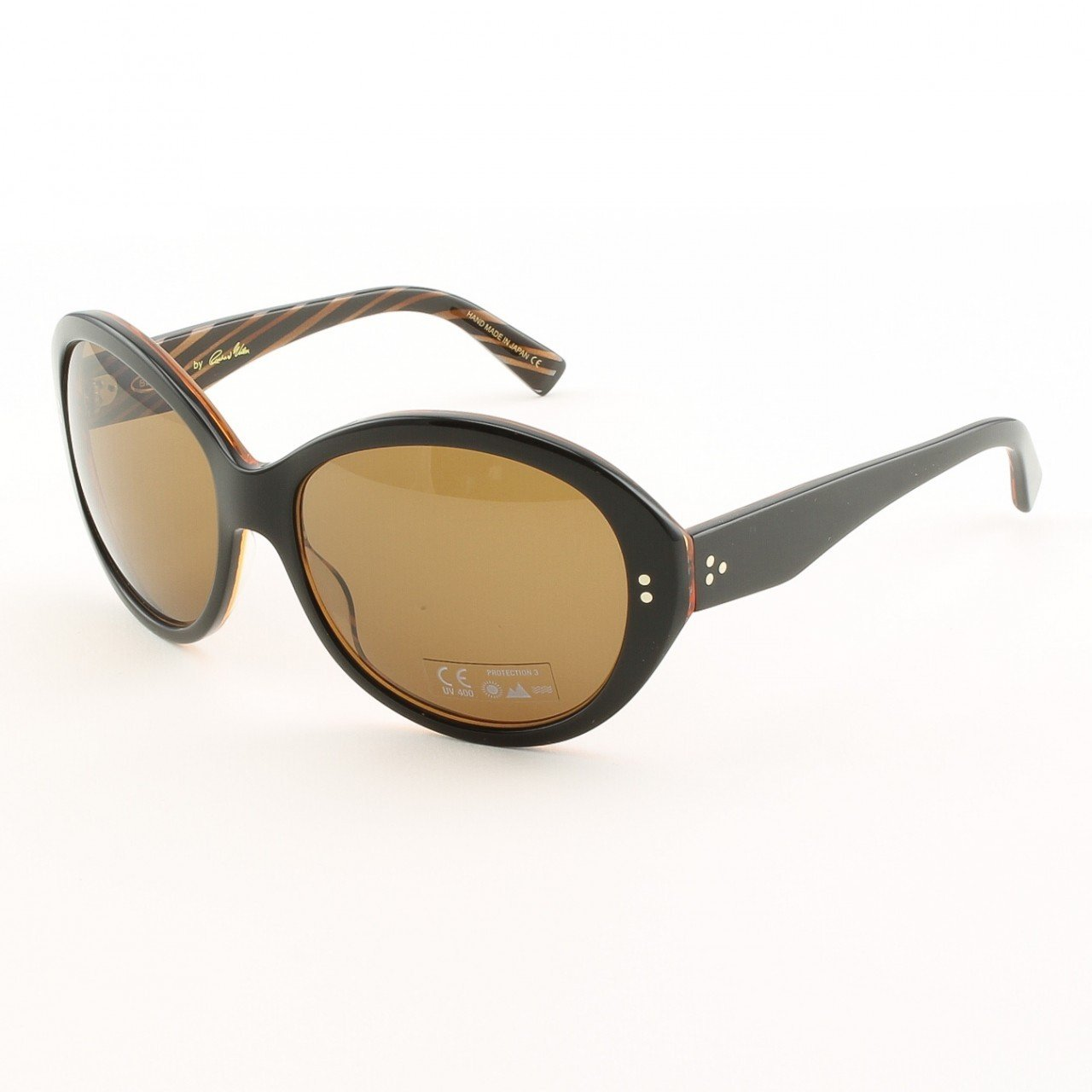 Blinde Lets Go All The Way Women's Sunglasses Col. Brown Zebra with Brown Lenses