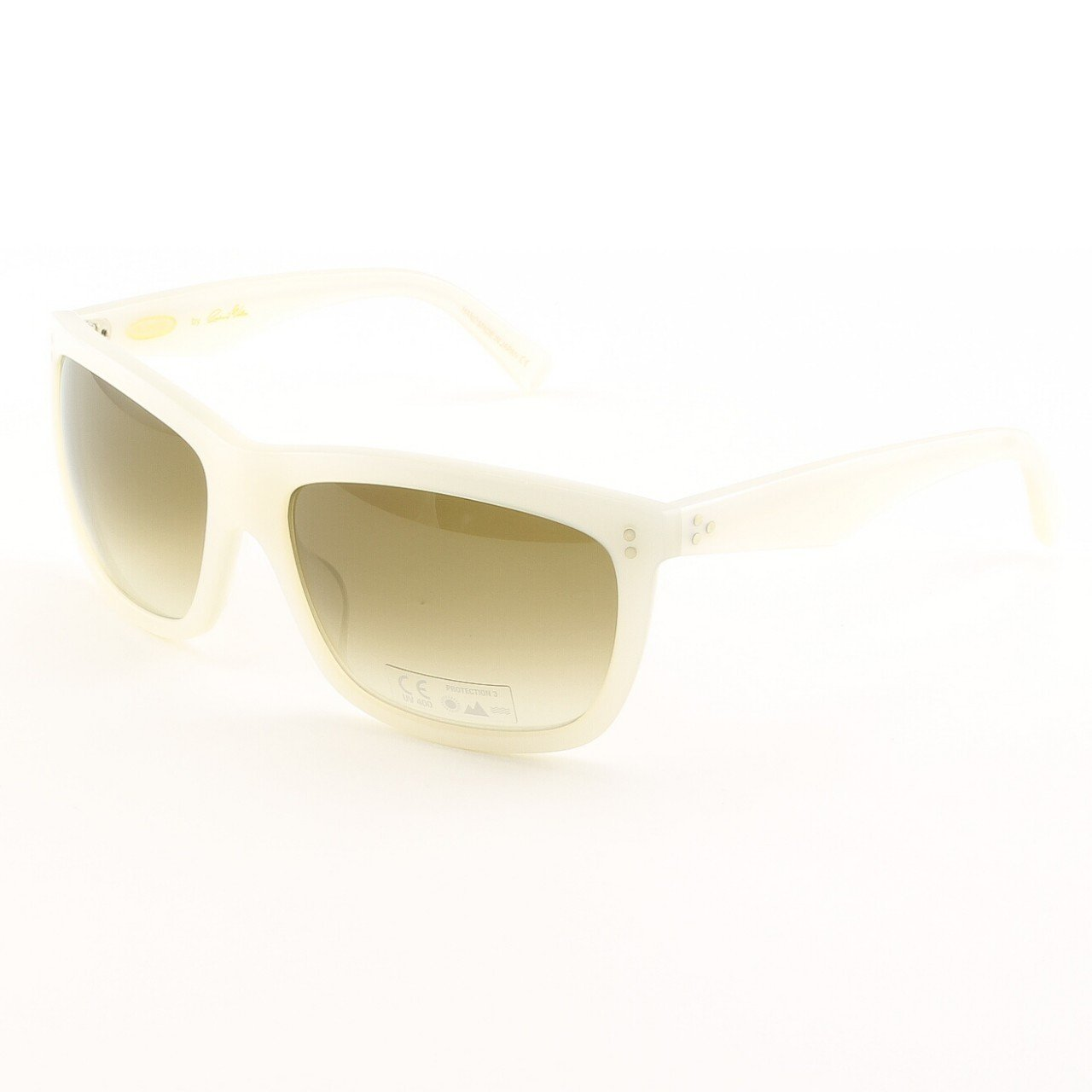 Blinde I'll Make It Up 2 U Unisex Sunglasses Col. White Pearl with Brown Gradient Lenses