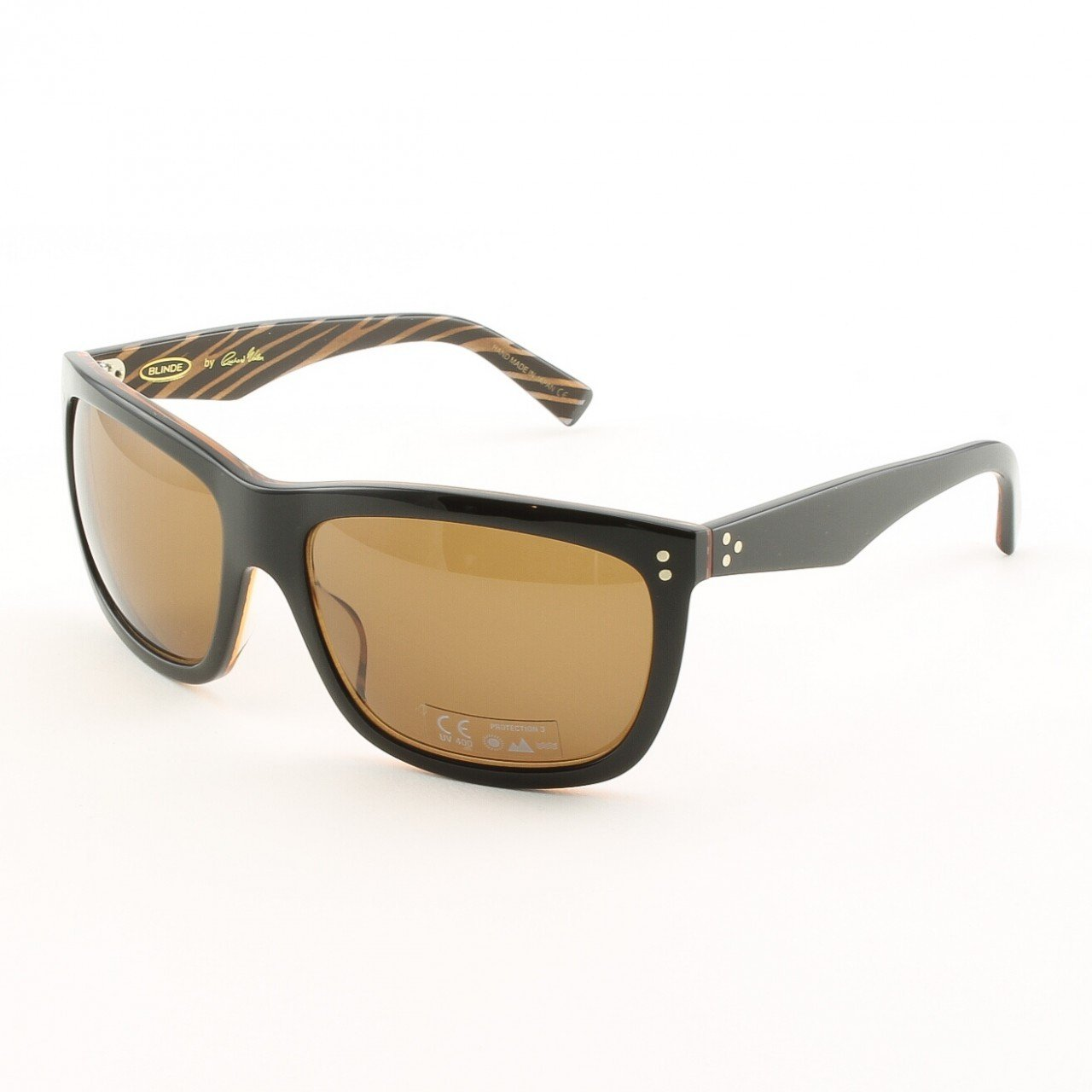Blinde I'll Make It Up 2 U Unisex Sunglasses Col. Brown Zebra with Brown Lenses