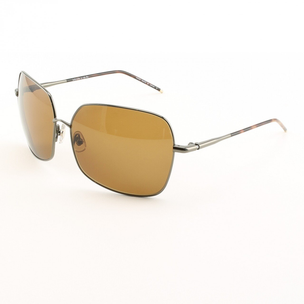Blinde Lemme Guess Unisex Sunglasses Col. Dark Brown with Brown Lenses