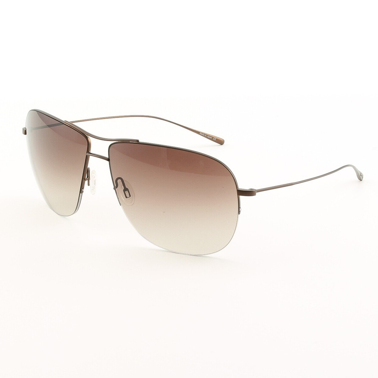 Oliver Peoples 1111ST 501913 Welles Sunglasses Walnut with Spice Brown Gradient Lens