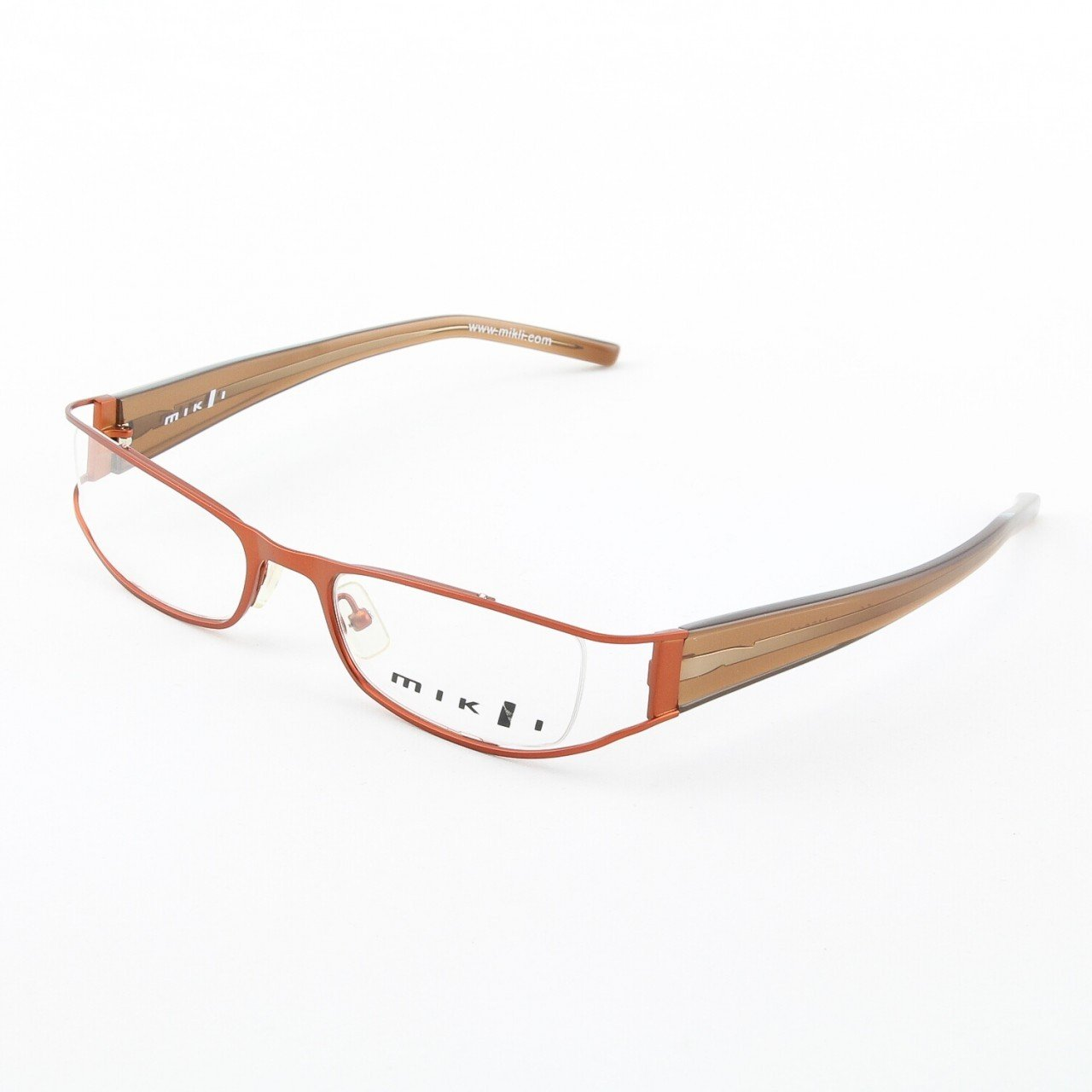 Alain Mikli Eyeglasses AL0318 Col. 11 Orange Brown