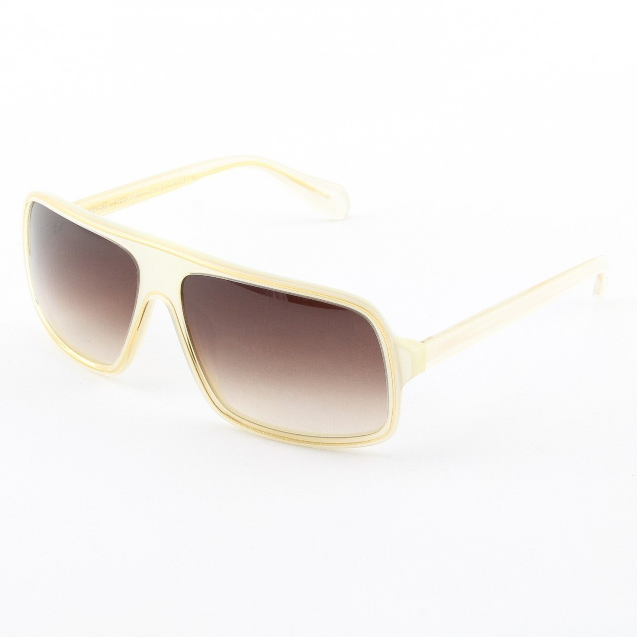 Oliver Peoples Marclay Sunglasses Col. IS-SB Ivory Gold with Brown Gradient Lenses