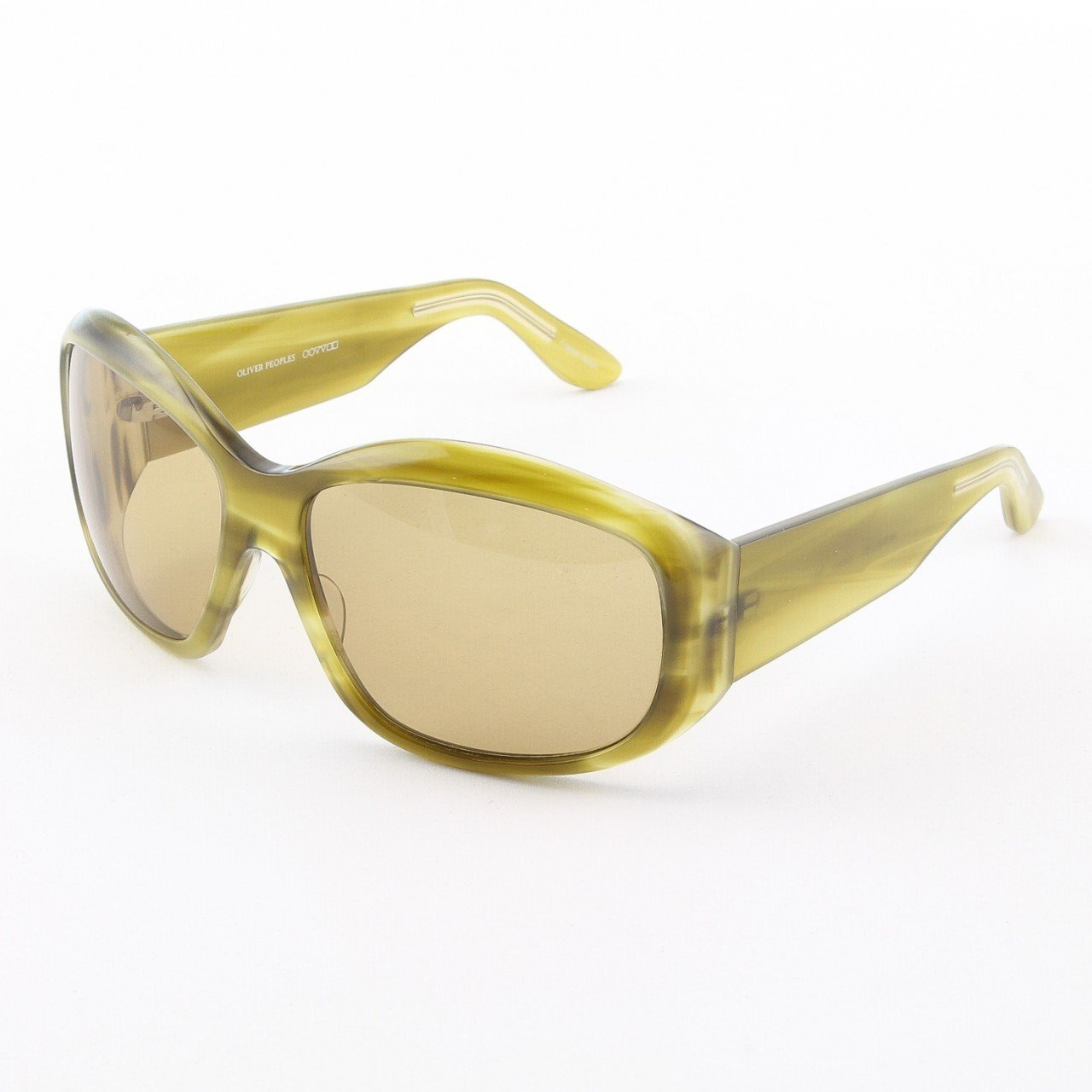 Oliver Peoples Bay Sunglasses Col. Light Green Tortoise with Green Lenses