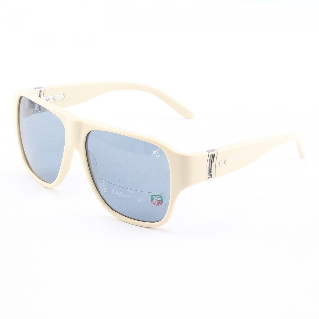 TAG Heuer 9100 Women's Sunglasses Col. 103 Ivory with Blue Lenses