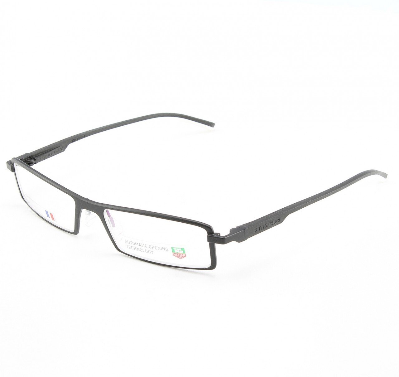 TAG Heuer 803 Uni Eyeglasses Col. 11 Black and White with Clear Lenses