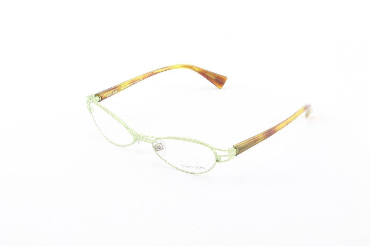 Alain Mikli Eyeglasses AL1112 Col. 8 Burnished Gold with Gold and Burnt Orange Temples