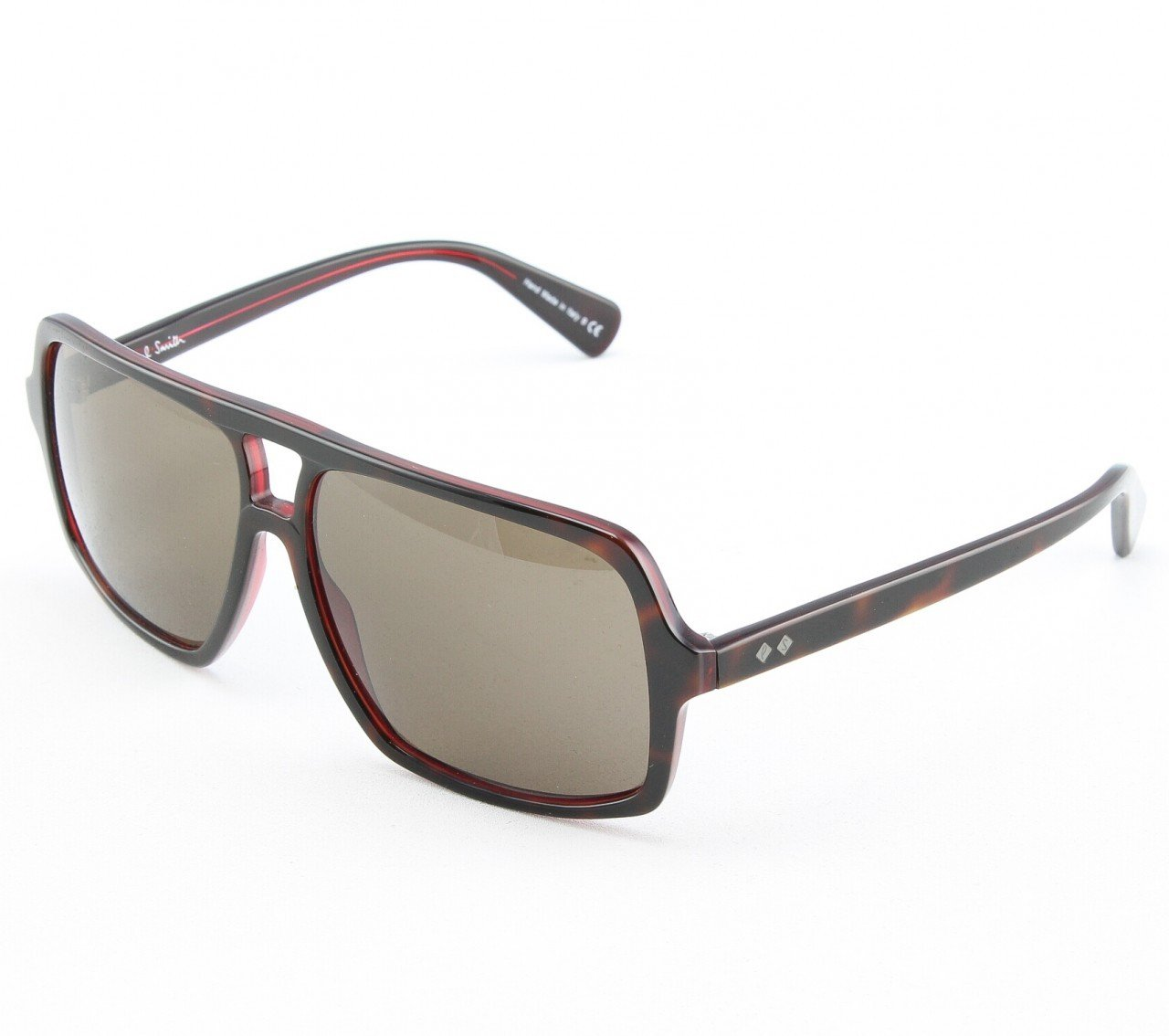 Paul Smith Waller 8082S 1020/73 Sunglasses Brown Tortoise Red with Brown Lenses