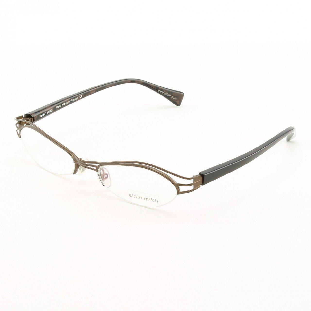 Alain Mikli Eyeglasses AL1110 Col. 2 Matte Copper with Deep Purple Pearlized Temples