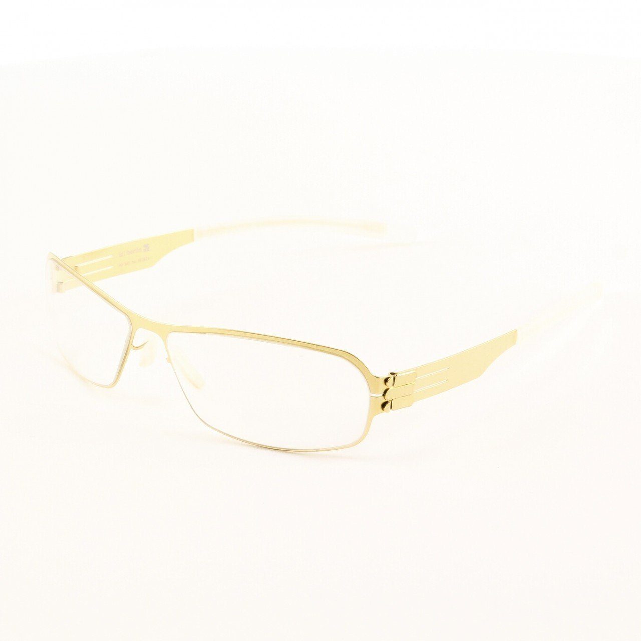 ic! Berlin Ye G. Eyeglasses Col. Gold with Clear Lenses