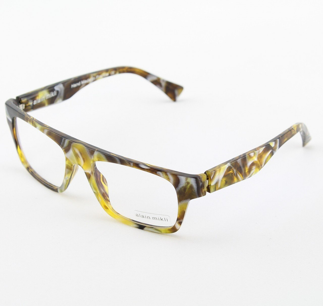 Alain Mikli Eyeglasses AL1047 Col. 201 Pearlized Gold and Brown