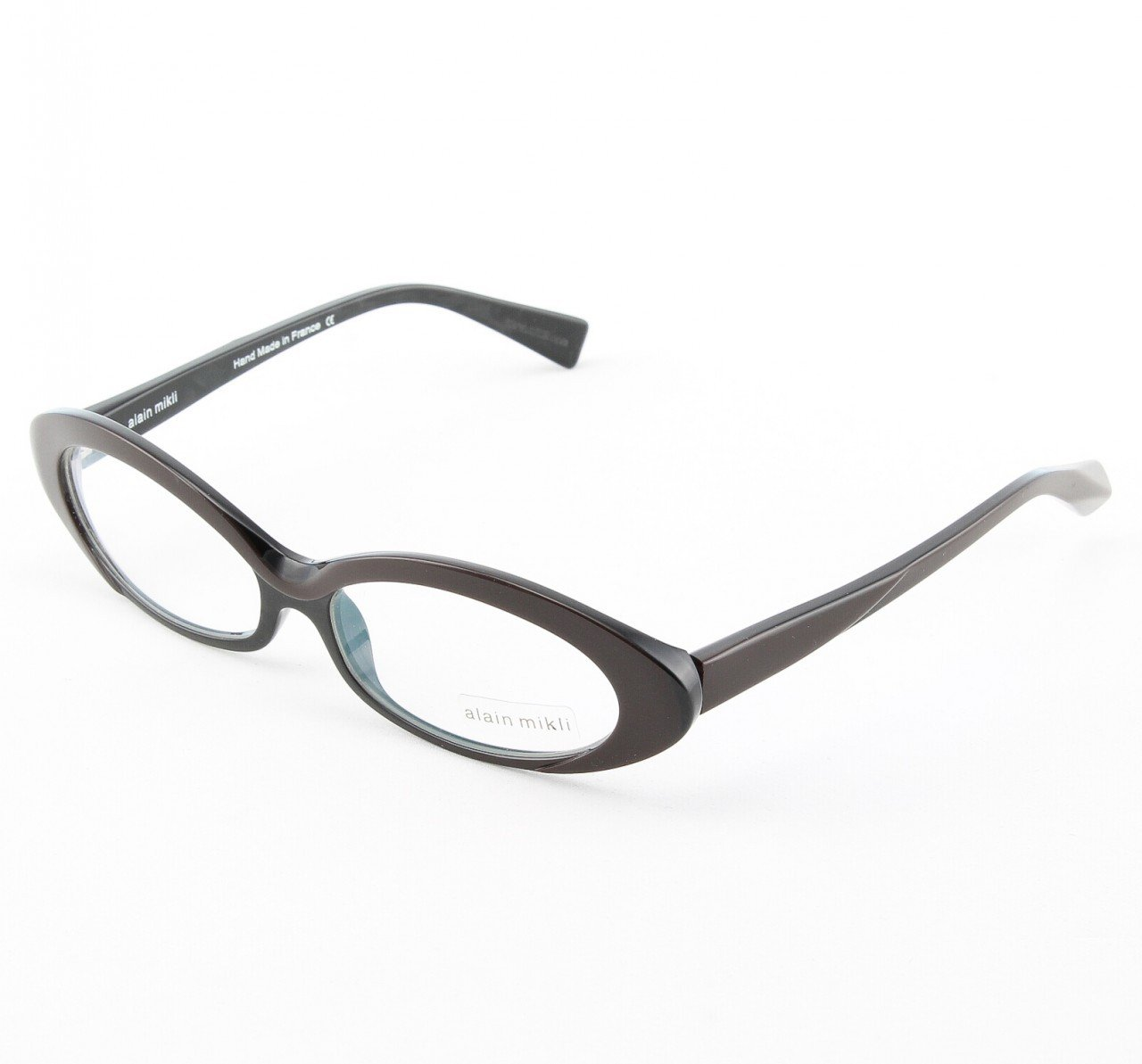 Alain Mikli Eyeglasses AL1037 Col. 2 Chocolate Brown with Black Frame Accent
