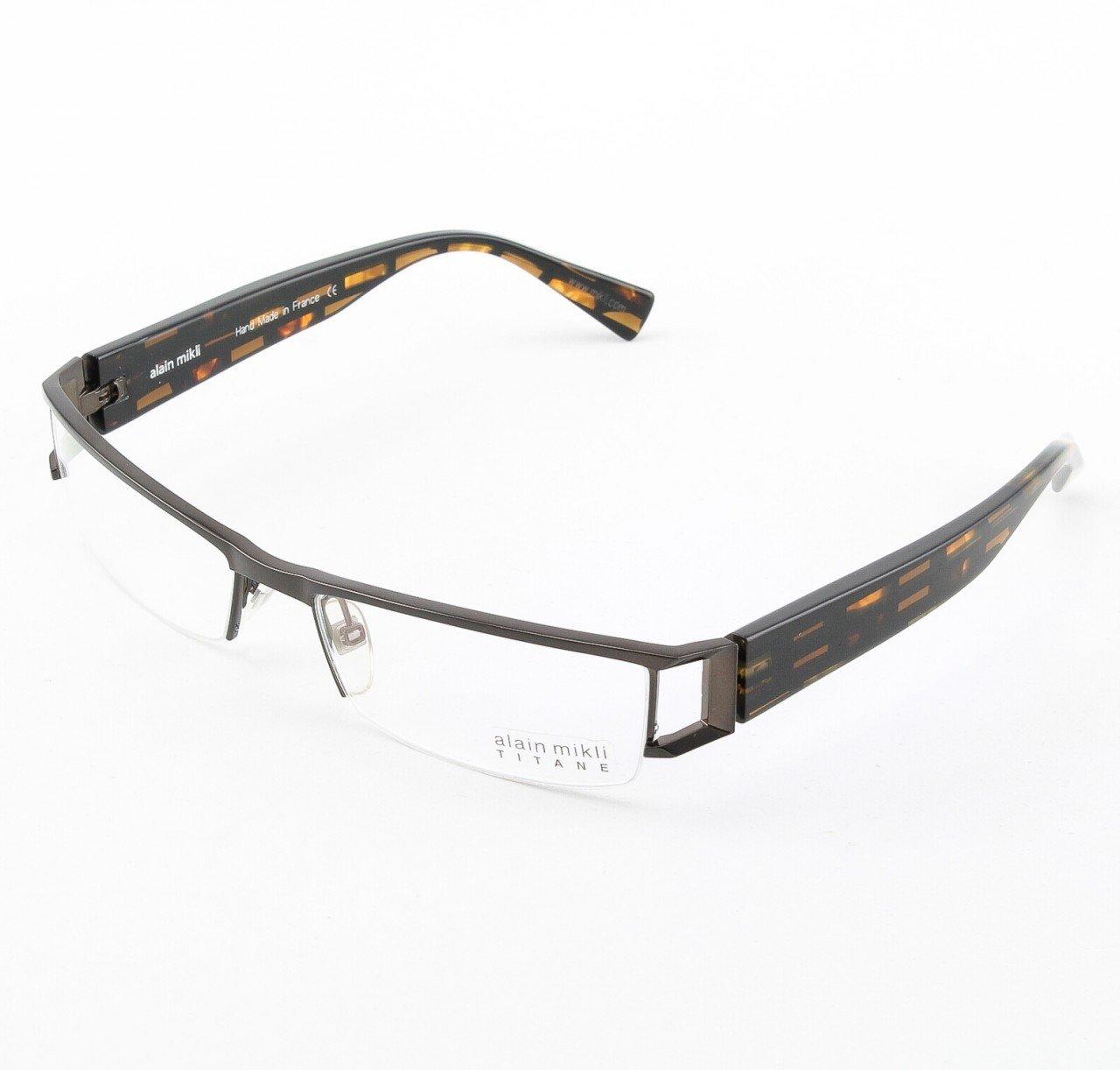 Alain Mikli Eyeglasses AL0867 Col. 86 Geometric Black and Tortoise