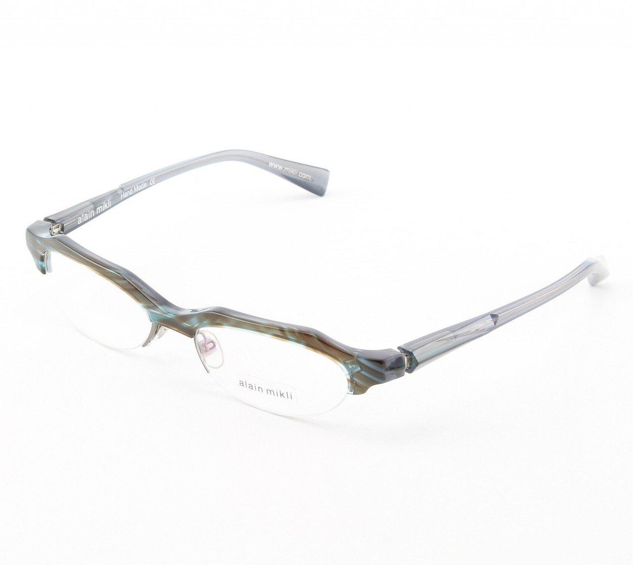 Alain Mikli Eyeglasses AL0928 Col. 2 Muted Blue and Brown