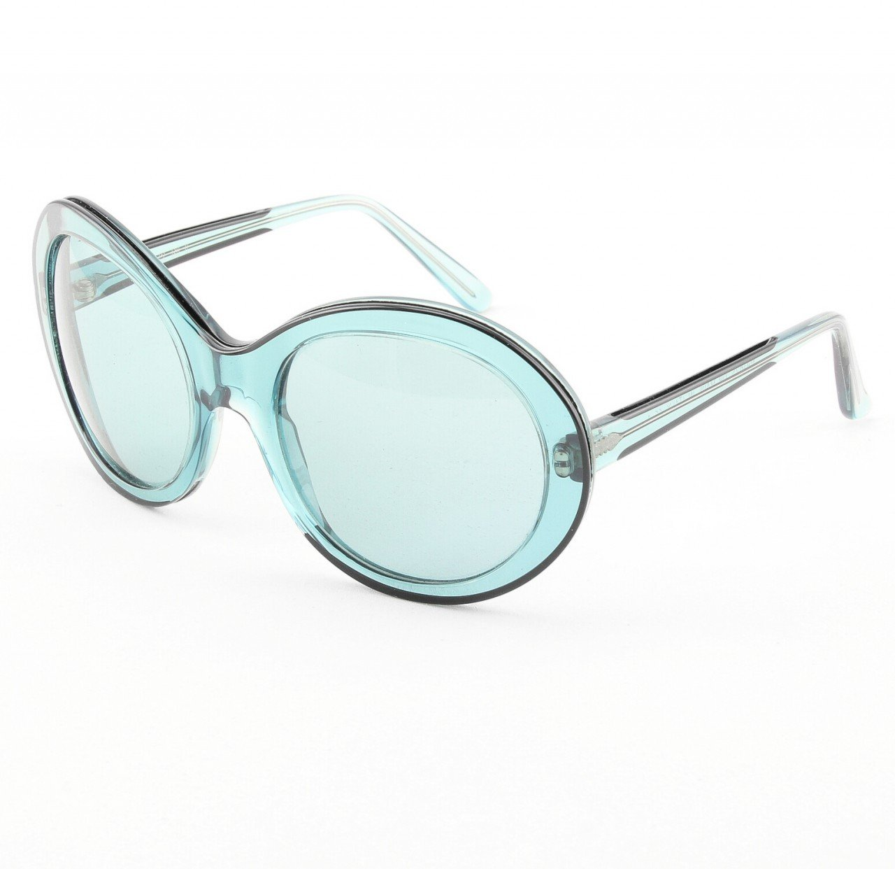 Marni MA162S Sunglasses Col. 09 Oversized Translucent Blue Frame with Blue Gradient Lenses