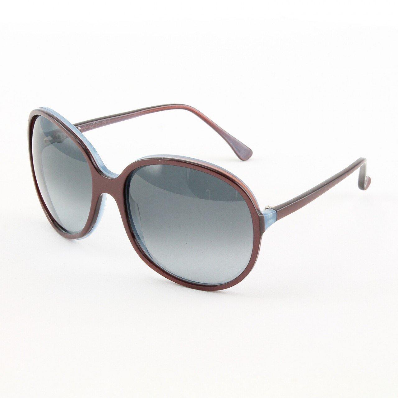 Marni MA165S Sunglasses 12 Oversized Deep Plum Frame, Gray Gradient Lenses