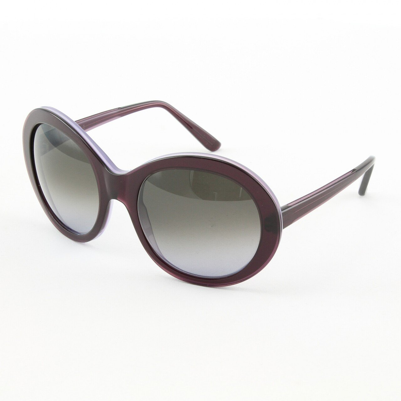 Marni MA162S Sunglasses Col. 12 Oversized Deep Violet Frame with Gray Gradient Lenses