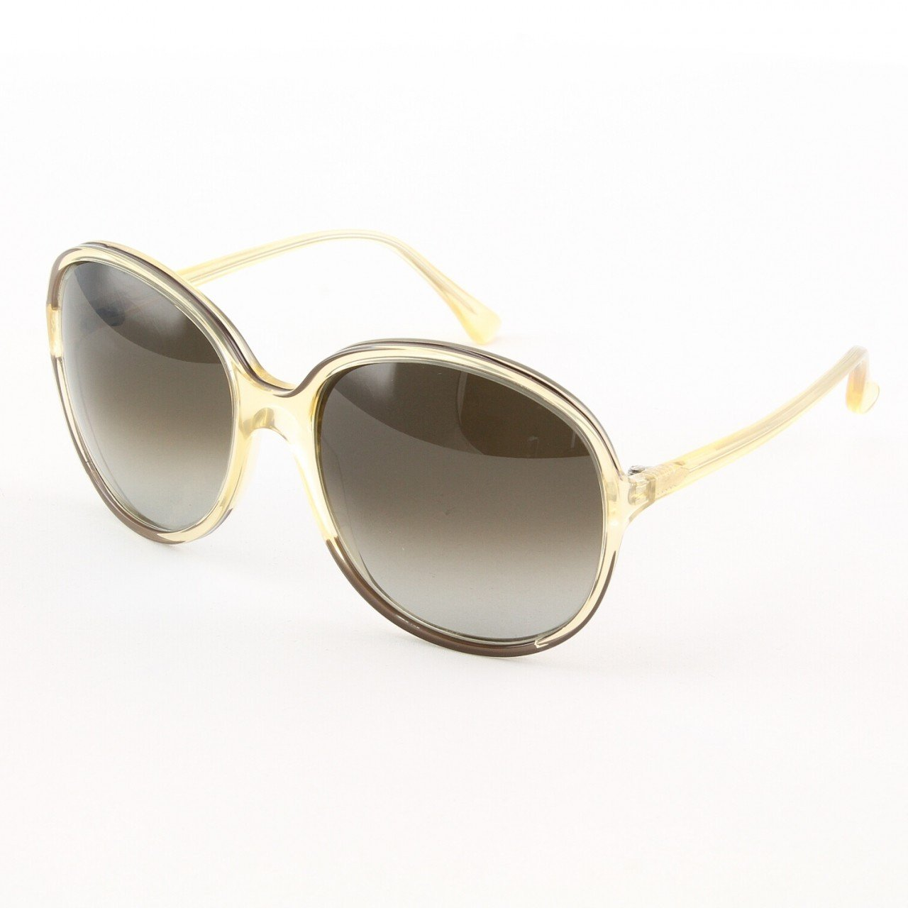 Marni MA165S Sunglasses Col. 06 Oversized Translucent Cream Frame with Brown Gradient Lenses